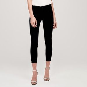 NEW L'Agence Margot Velvet Ankle Skinny Jeans